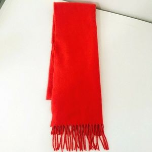 Scotland Solid Red 100% Cashmere Scarf